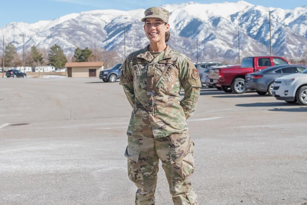 Airman 1st Class Kristie Turturro, medical administrator in the 419th Medical Squadron