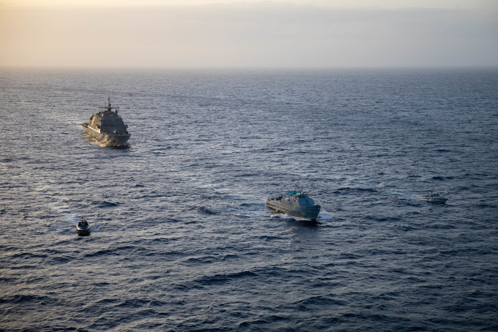USS Sioux City Participates in a Bilateral Maritime Interdiction Exercise with the Dominican Republic Navy