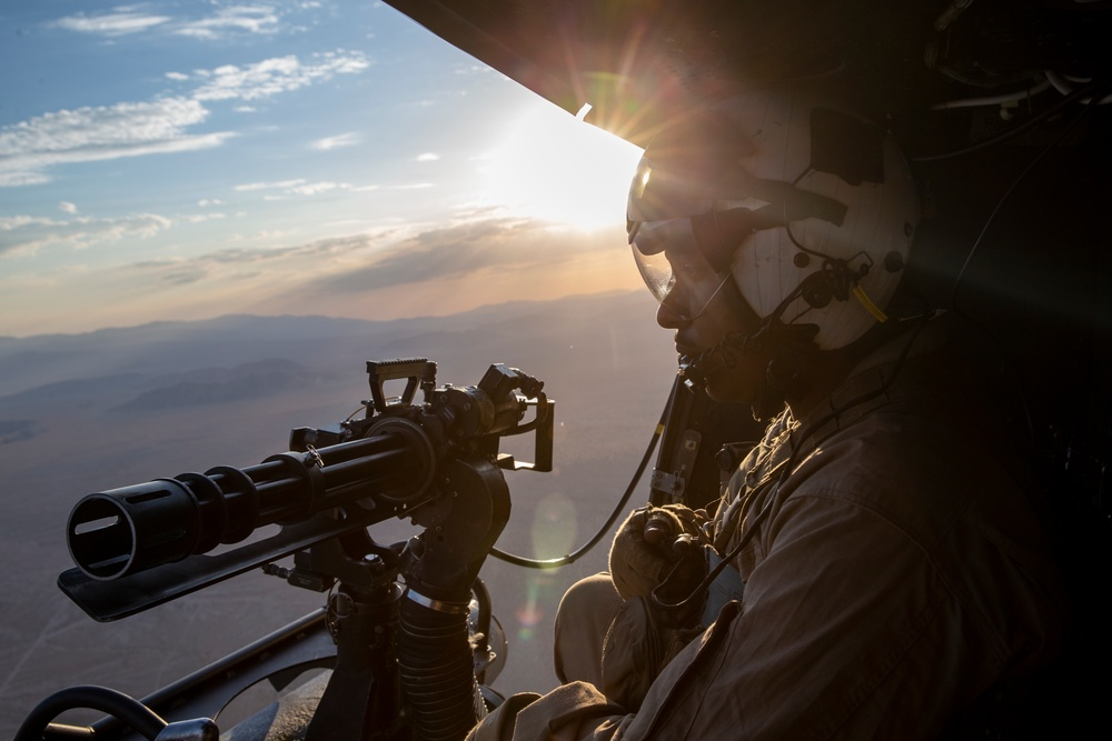 """HMLA-773 """"Red Dogs"""" flies in Fire Support Coordination Exercise"""