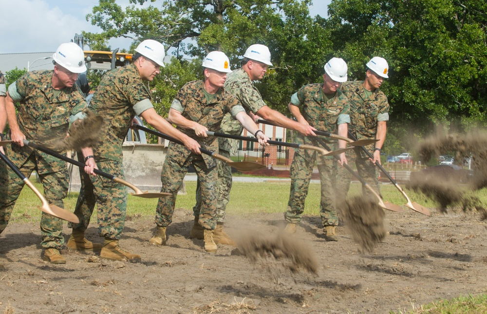 P-162 H&HS and MWHS-2 Headquarters groundbreaking ceremony