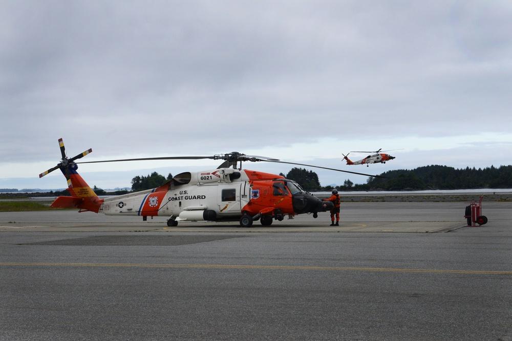 Coast Guard Air Station Sitka crews work around the clock