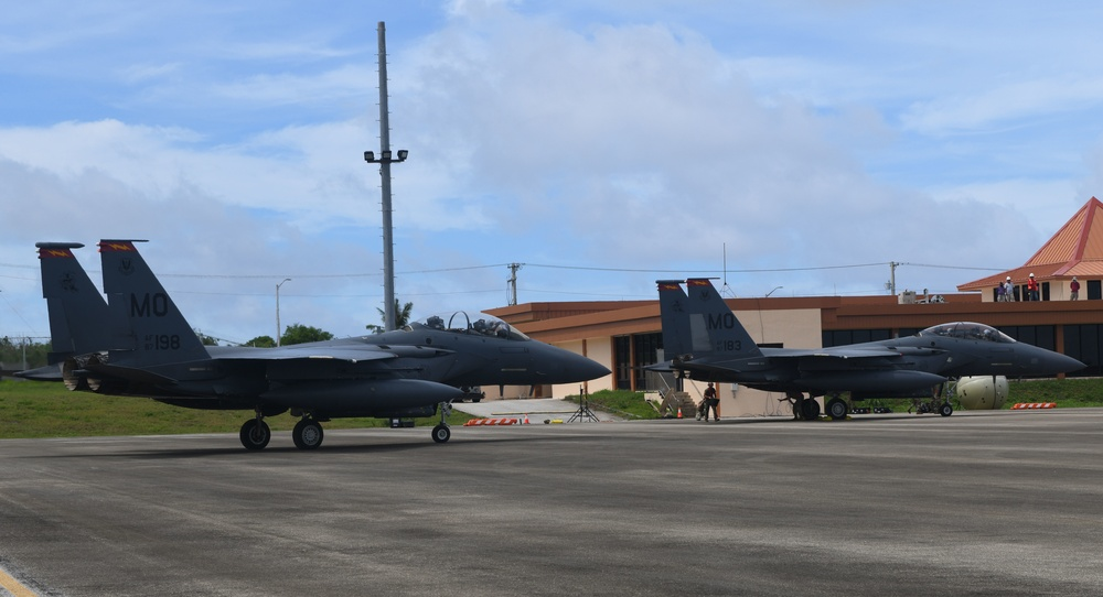 Gunfighters arrive on Tinian