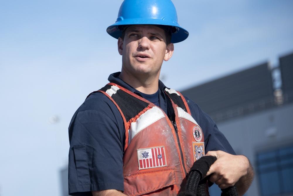 USCGC Brant Crew Members Prepare to Get Underway