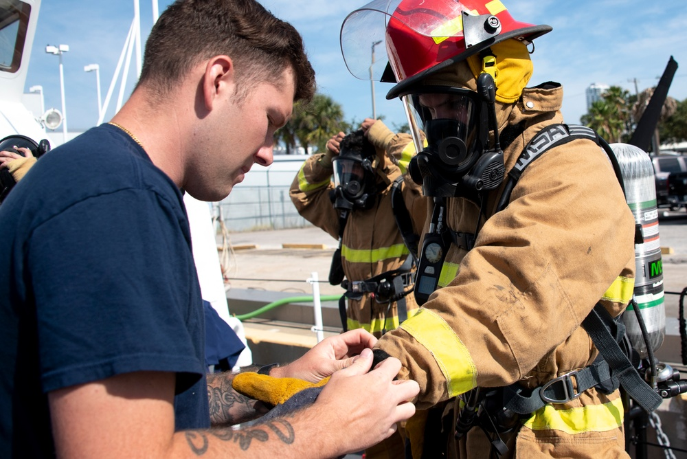 USCGC Brant Crew Conducts Emergency Fire Drills