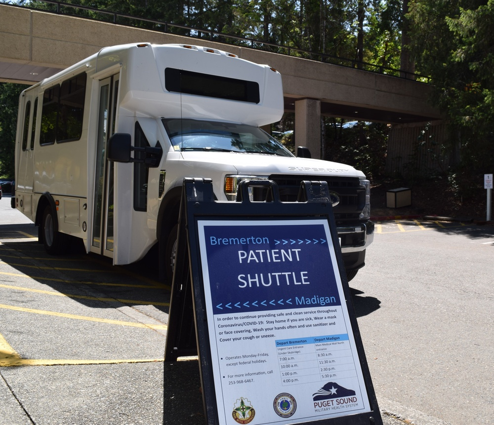 The patient shuttle is a Puget Sound MHS joint effort