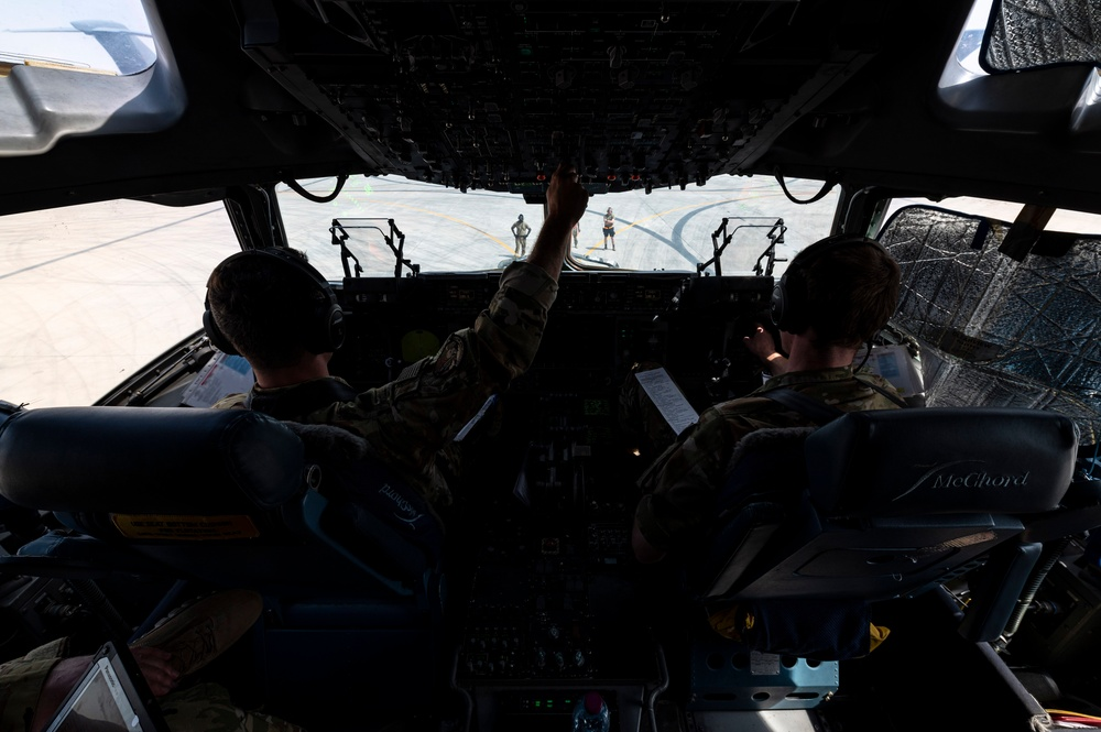 Two U.S. Air Force Pilots Prepare for Take-Off