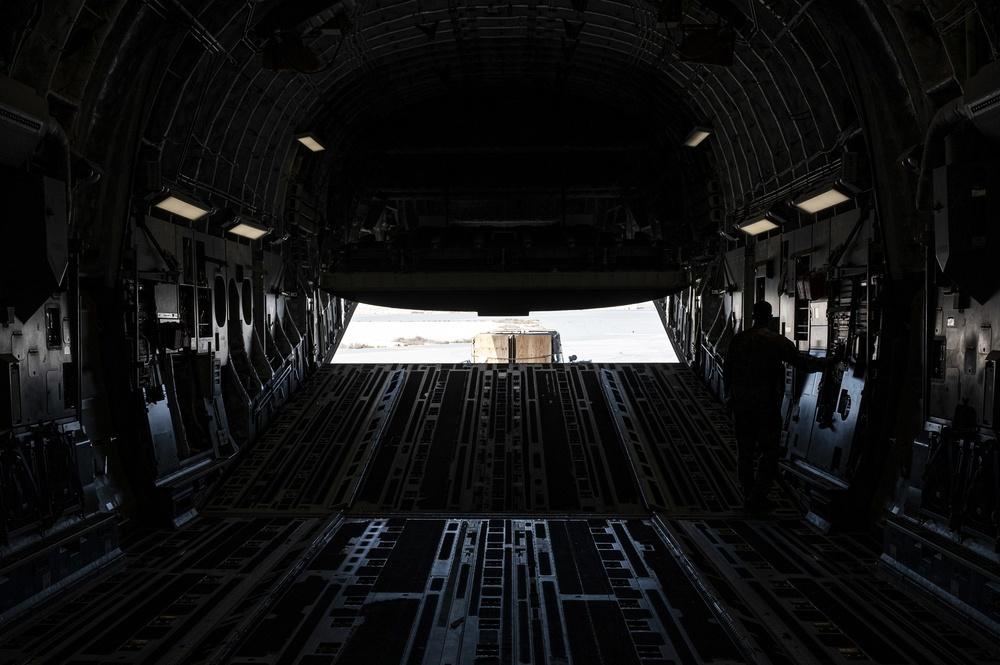 U.S. Air Force Loadmaster Closes Cargo Door
