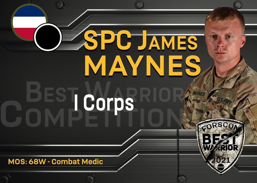 2021 FORSCOM Best Warrior Competition - SPC James Maynes, I Corps