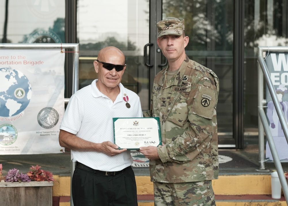Transportation professional with major civilian award