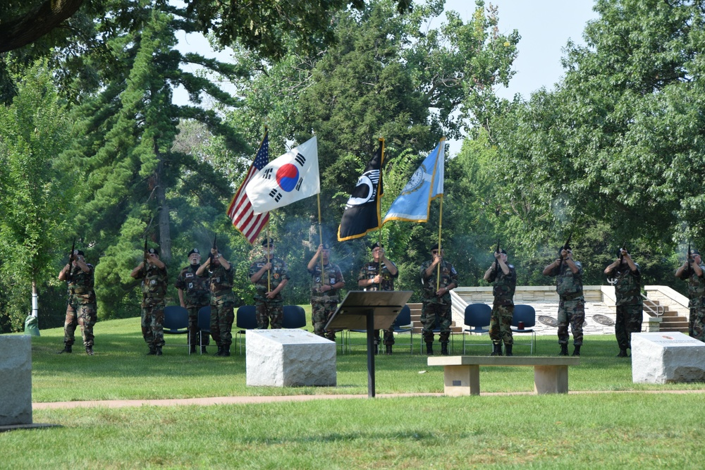 Korean War Armistice 68th Anniversary commemorated at R.I. National Cemetery