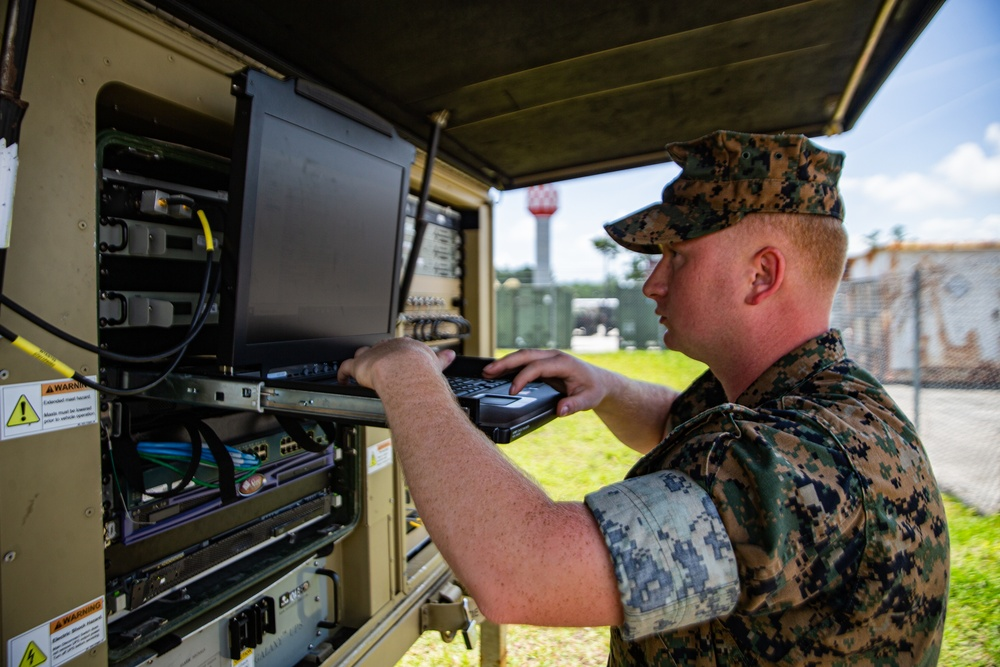 Cyber Fury 21   Marines with 8th Comm. Bn. participated in Exercise Cyber Fury 21
