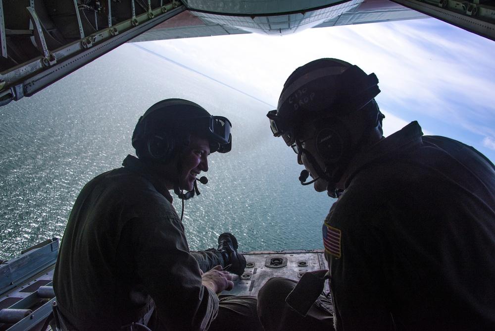 USCG Crews Conduct Emergency Drop Training