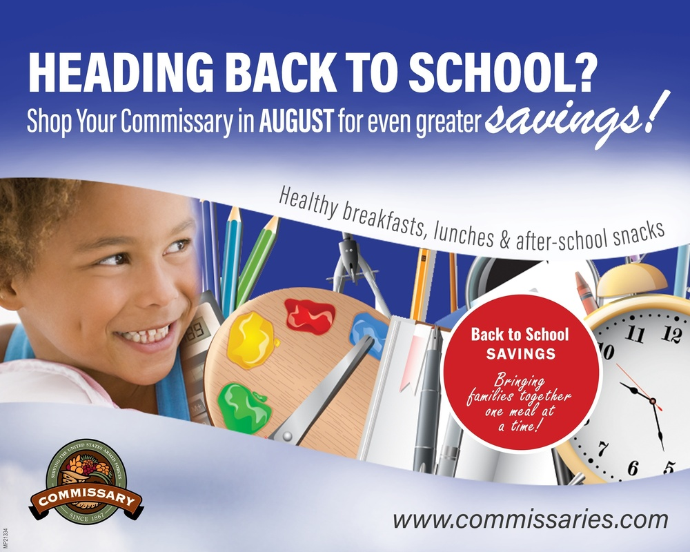 Back to School savings:  Commissaries help parents get more for less in August as children return to the classroom