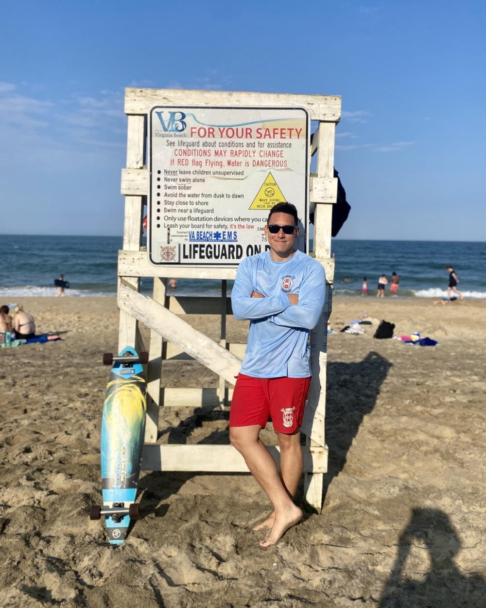LIFEGUARD ON DUTY WHILE MARINE OFF DUTY