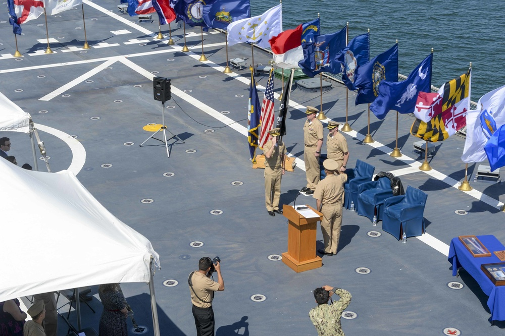 USS Charleston Blue Crew Change of Command Ceremony