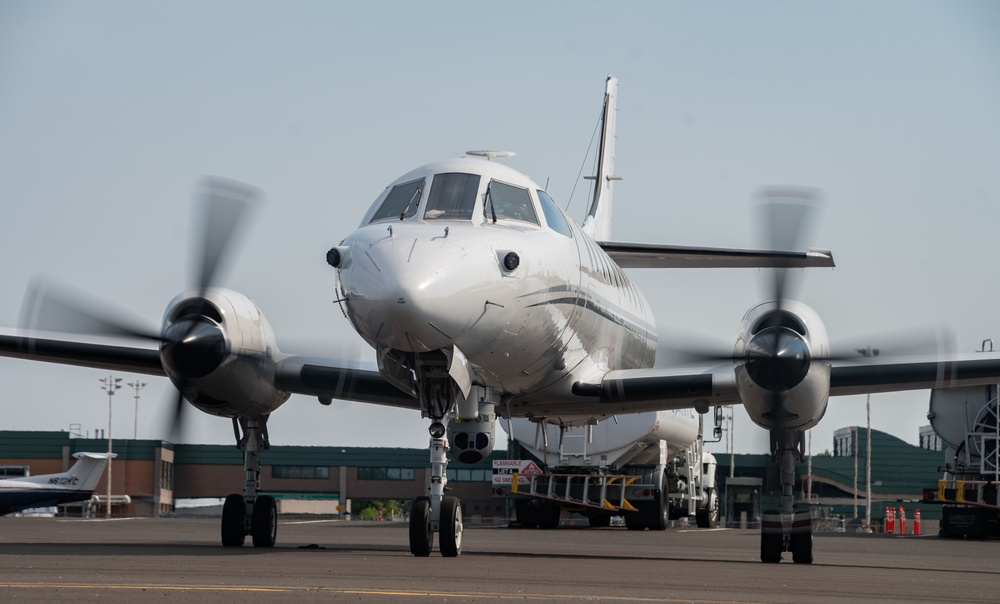 RC-26 provides DoD support by aerial mapping for Wildland Fire Fighting effort