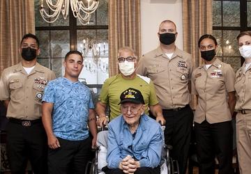 Navy WWII veteran Paul Bartlett 100th Birthday