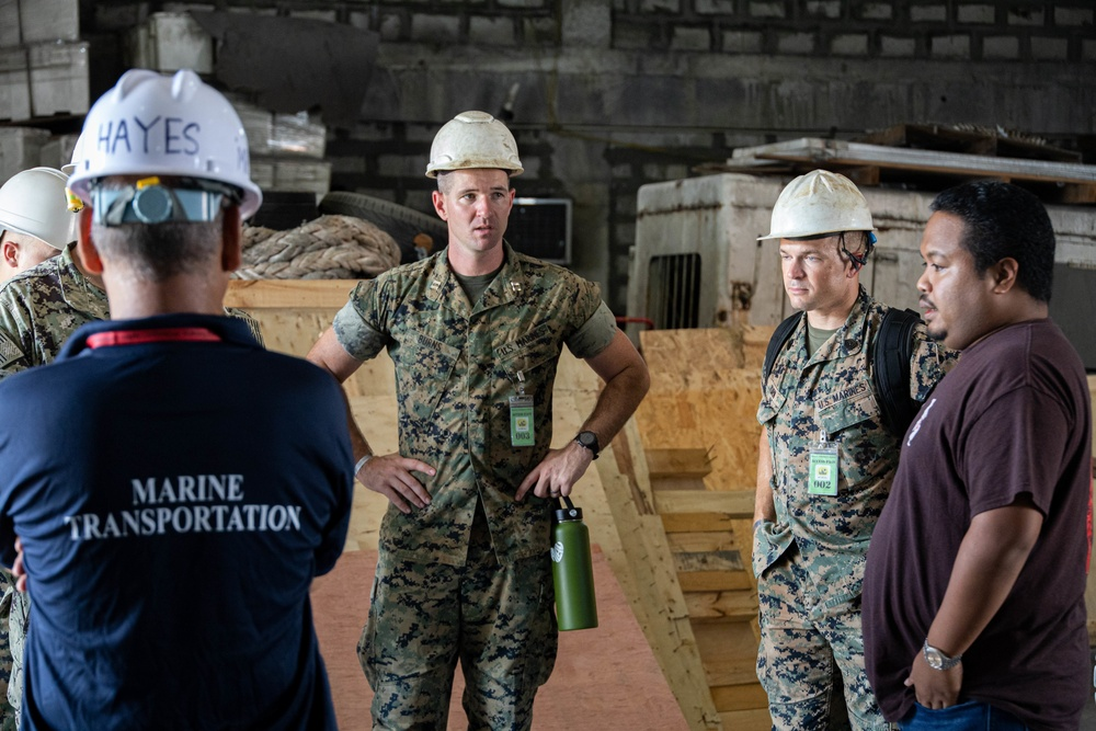 Task Force Koa Moana Marines survey the Commercial Seaport of Palau