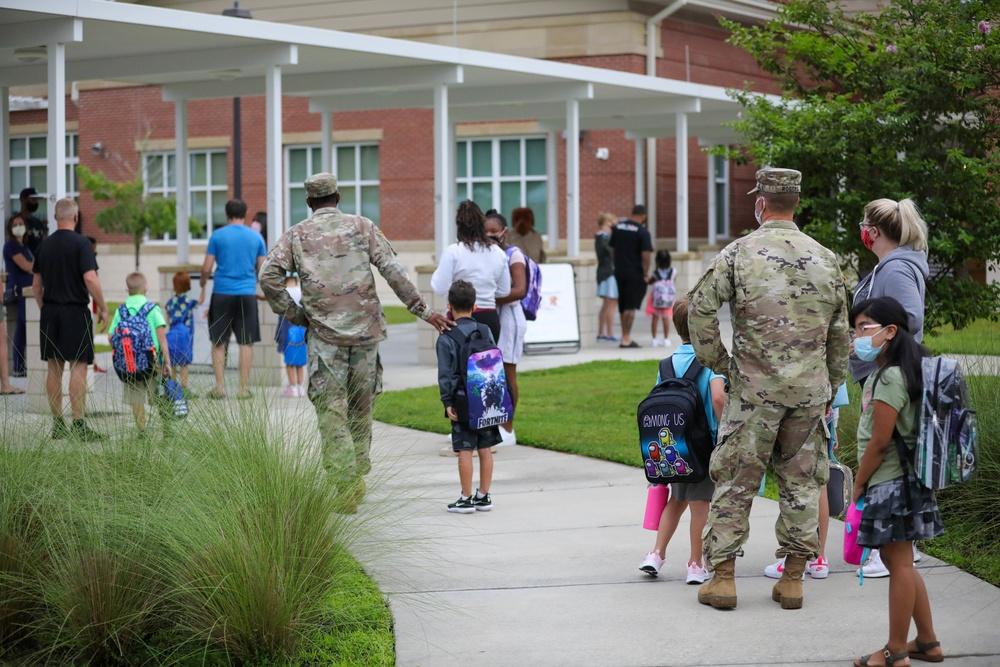 CSM Buchanan and McGruff Greet Students at Diamond Elementary