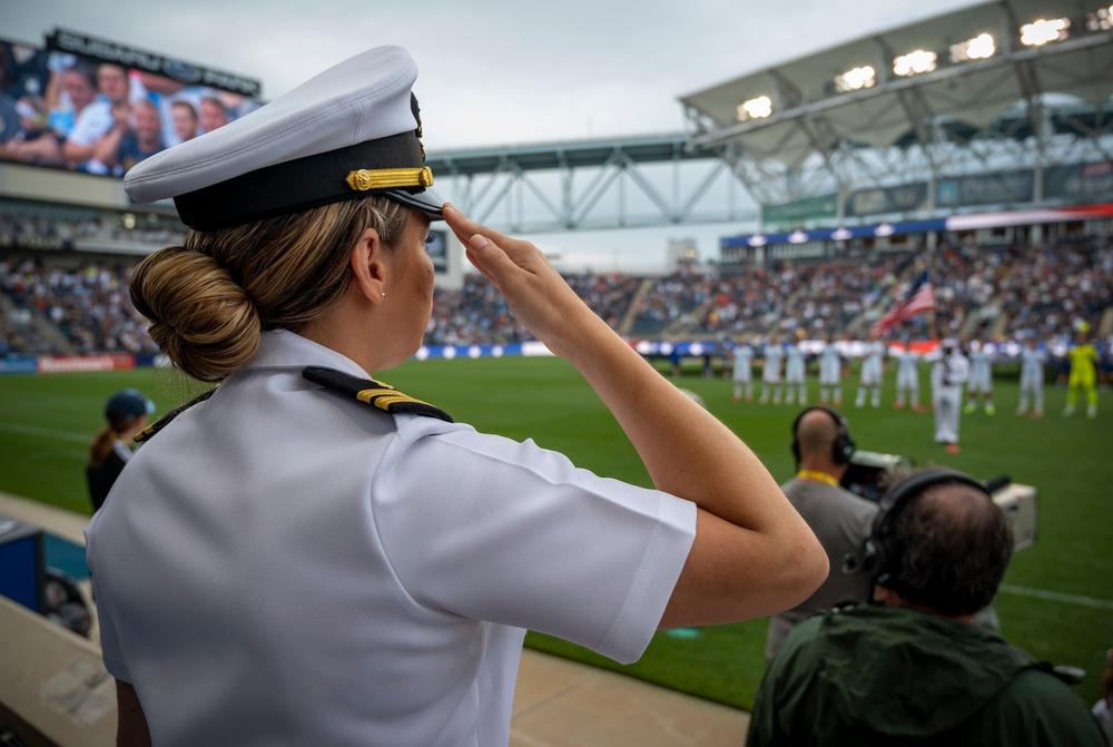 NTAG Philadelphia Sailors attend Salute the Troops Night