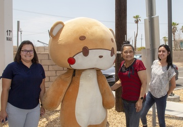 #IAmBearsun traverses Historic Route 66 through MCLB Barstow during LA to NY walk for charity
