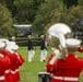 Barracks Marines perform at Marine Corps War Memorial for Tuesday Evening Parade