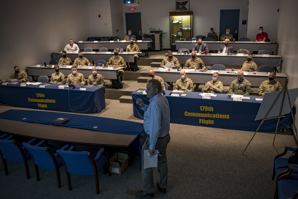 Site survey team visits 179th for possible Cyber Warfare Wing selection