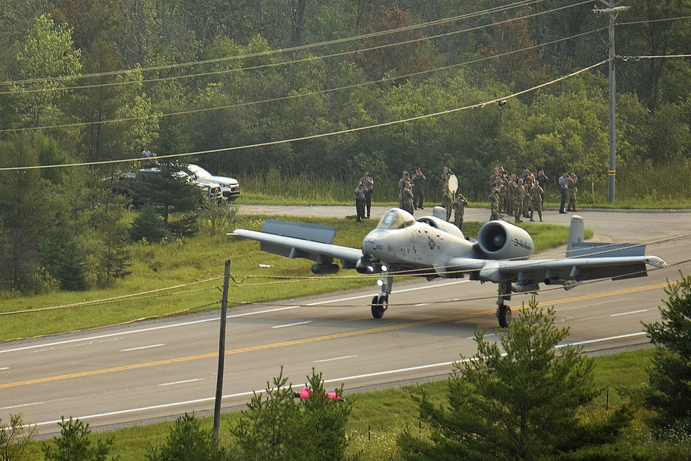 'That was smooth as hell': Watch the USAF land an A-10 on a public highway