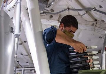 Sailors uploads inert rounds
