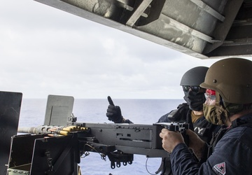 Sailors participate in gun shoot