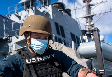 USS O'Kane (DDG 77) Conducts Weapons Drill