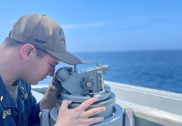 USS Stockdale (DDG 106) Sailor Standing Watch
