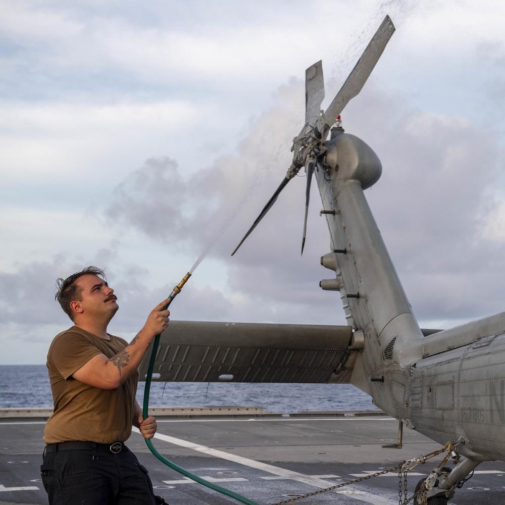 Flight Operations Aboard USS Charleston (LCS 18)