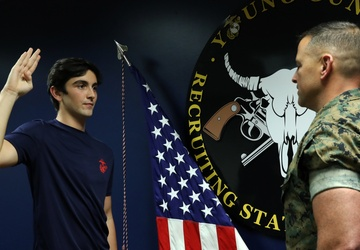 A long standing legacy | Kansas City Marine officer swears son into the Corps