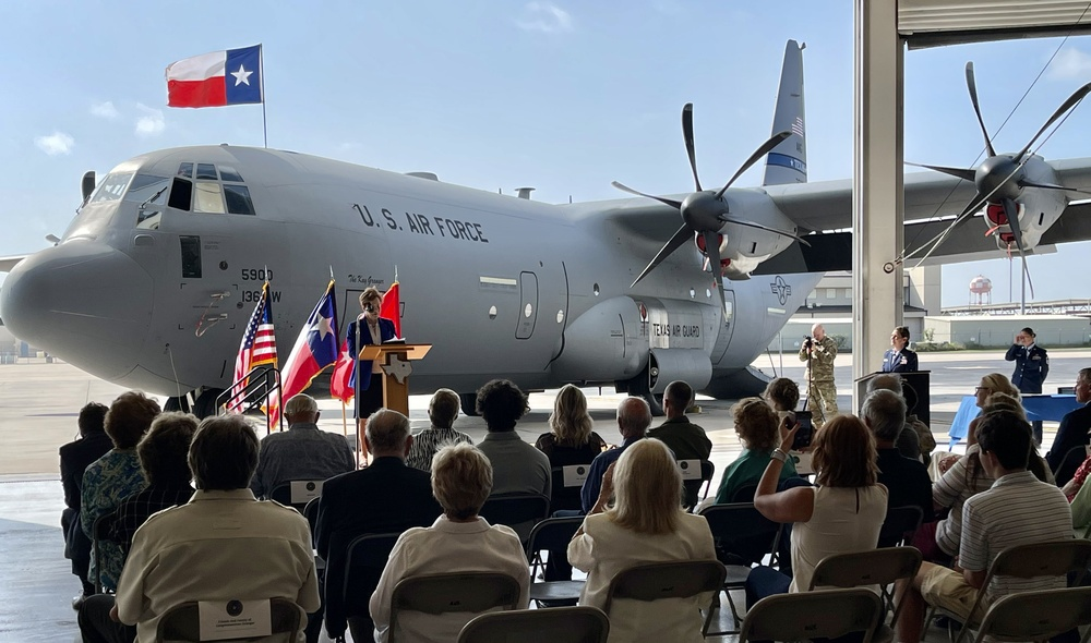 136th Airlift Wing celebrates Super Hercules arrival