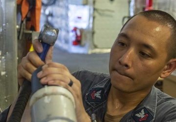 Maintenance Aboard USS Charleston (LCS 18)