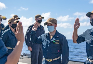 USS O'Kane (DDG 77) Conducts Promotion Ceremony