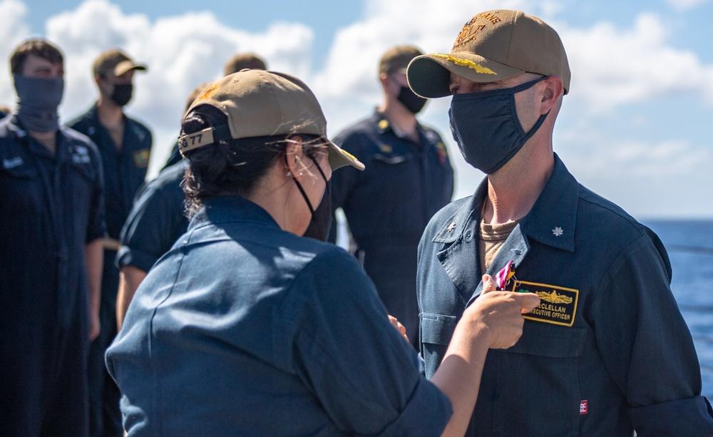 USS O'Kane (DDG 77) Conducts Award Ceremony