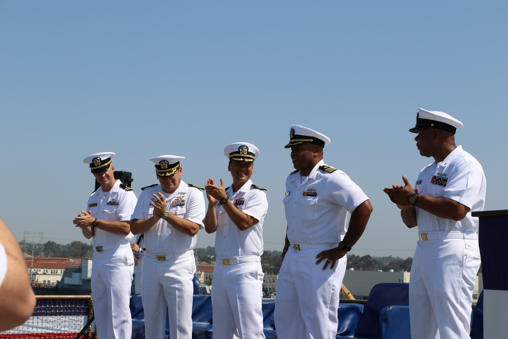 USS Harpers Ferry Holds Change of Command Ceremony.