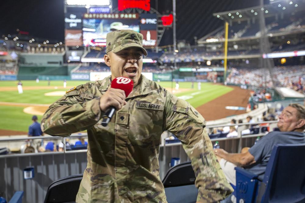 National Guard night at Washington Nationals Stadium