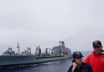 USS Michael Murphy (DDG 112) Conducts A Replenishment-At-Sea
