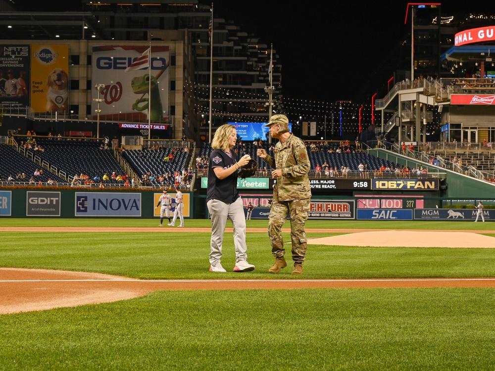D.C. National Guard participates in Washington Nationals' National Guard Night