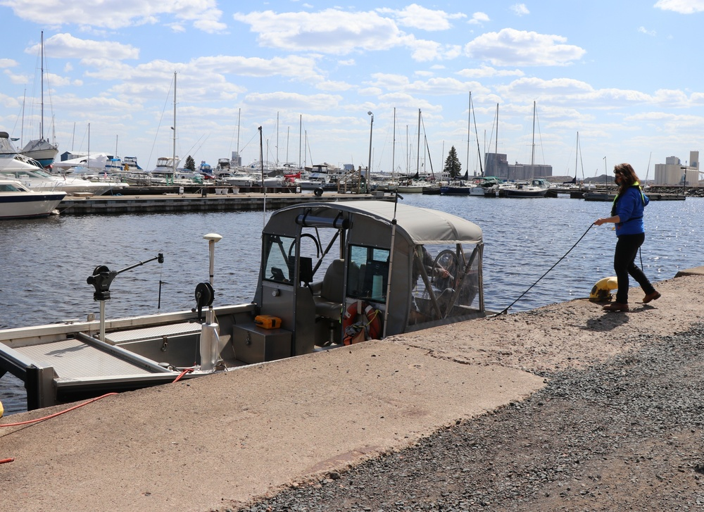 Corps of Engineers repairing its southern Vessel Yard Pier