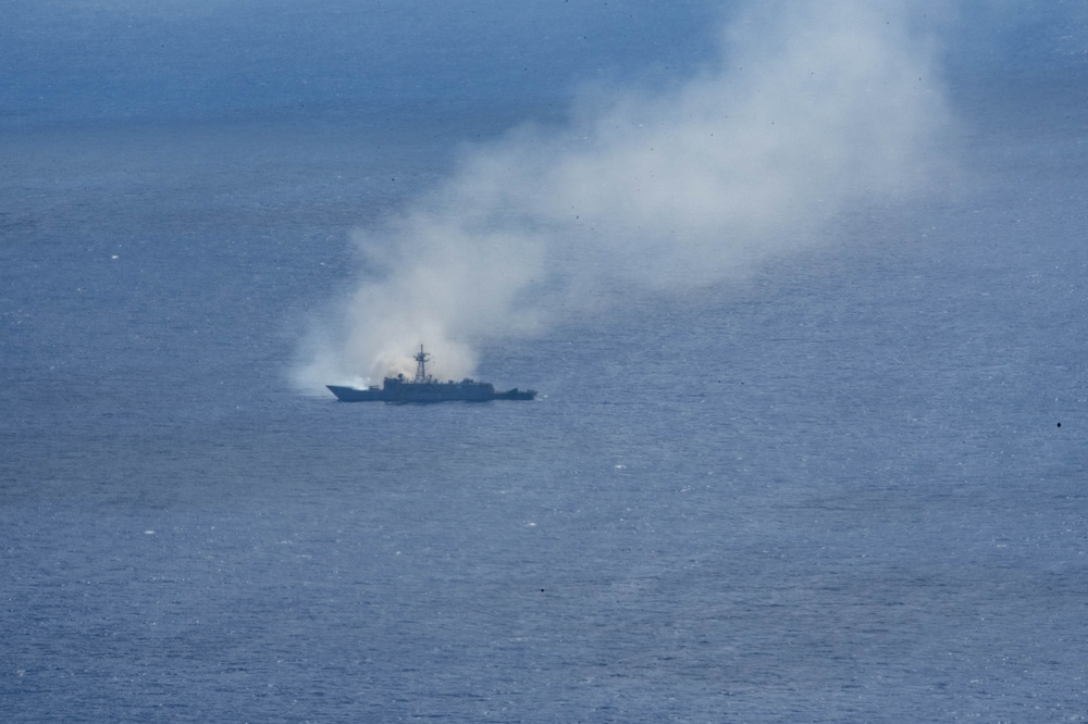 U.S. Forces Conduct Sinking Exercise