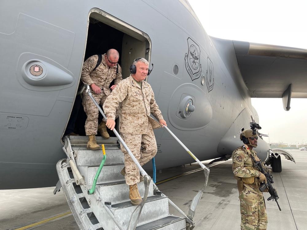 CENTCOM arrives at Hamid Karzai International Airport