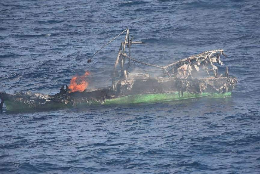 Coast Guard rescues 3 after boat fire 150 miles south of Costa Rica