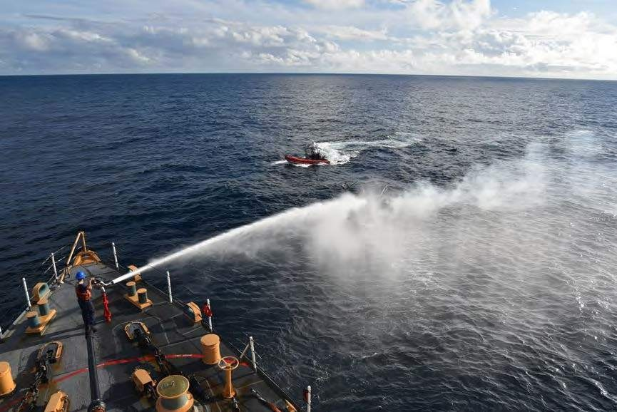 USCGC Northland fights vessel fire
