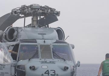 Routine maintenance on MH-60S Sea Hawk