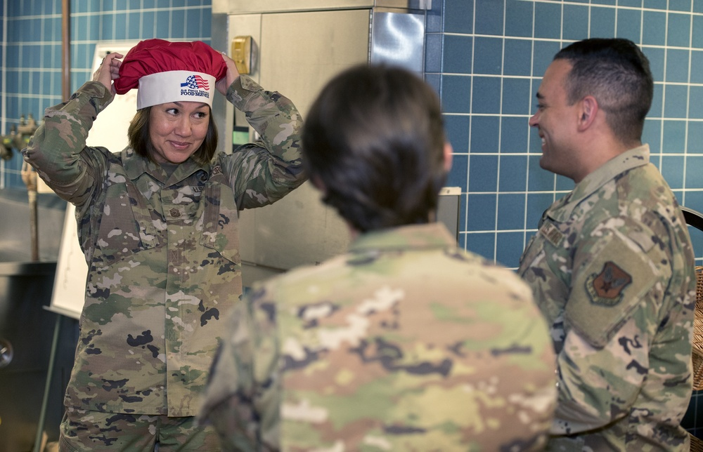 Chief Master Sgt. of the Air Force JoAnne Bass visits Offutt