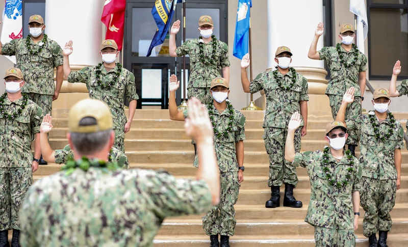 Commissioning of the University of Hawaii at Manoa First Cohort of Naval Reserve Officers' Training Corps